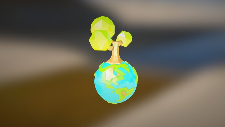 Poly Earth 3D Model
