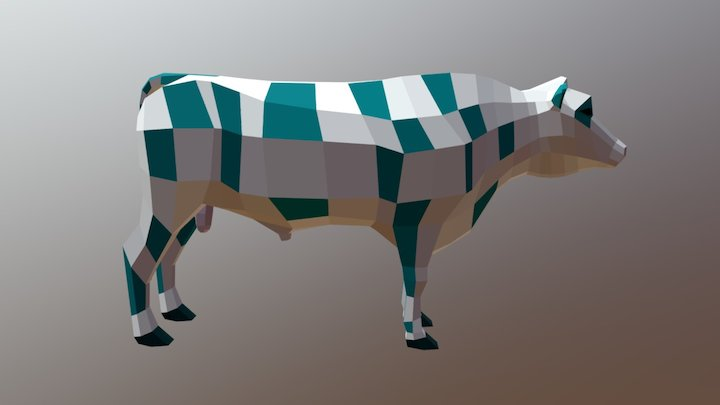 Low-poly bull - neutral pose 3D Model