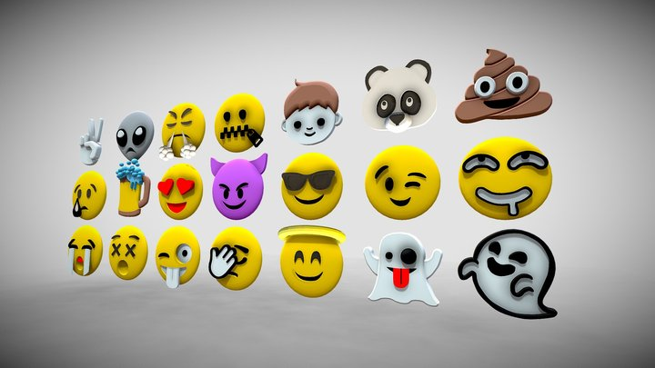 Emoji-Symbol - 1 3D Model