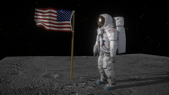 Recreation of Apollo 11 moon landing 3D Model