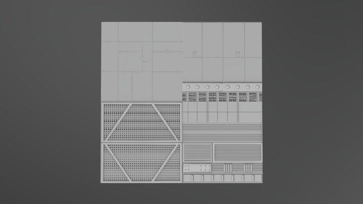 Trim Sheet LP 3D Model