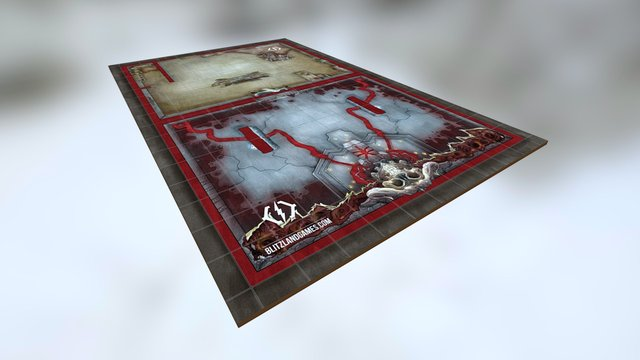 Necromancer Lair - A BlitzLand Games Battlemap 3D Model