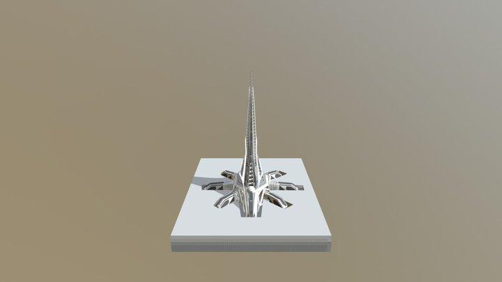 Space elevator model 3D Model