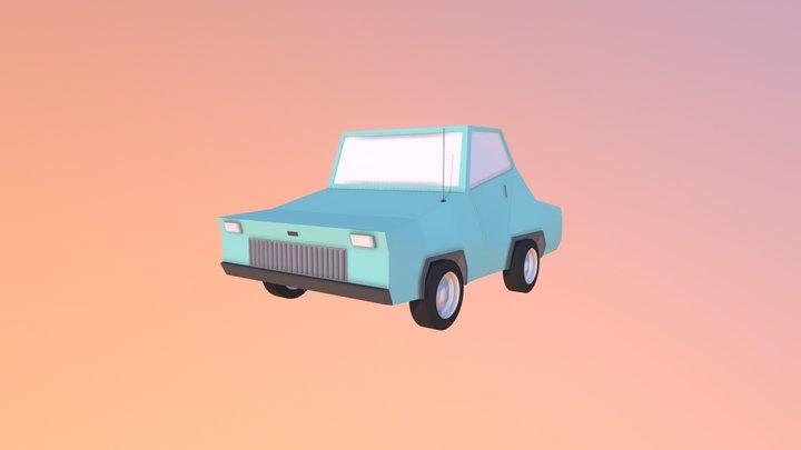 Medium-poly Car 3D Model