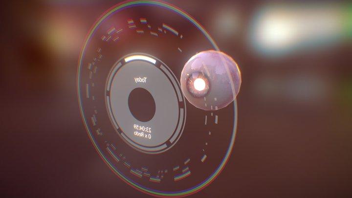 Black Mirror Eyeball 3D Model
