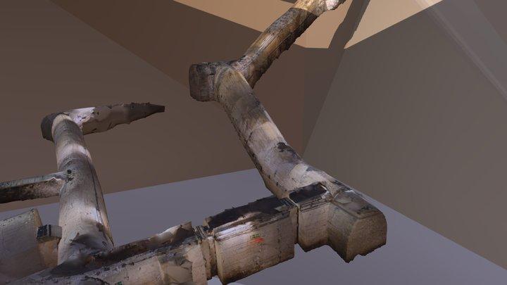 Treppe zu einem LS-Stollen 3D Model