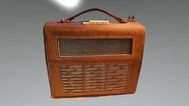 Gammal transistorradio 3D Model
