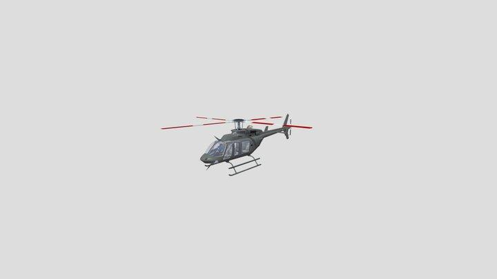 Bell 407 GX 3D Model