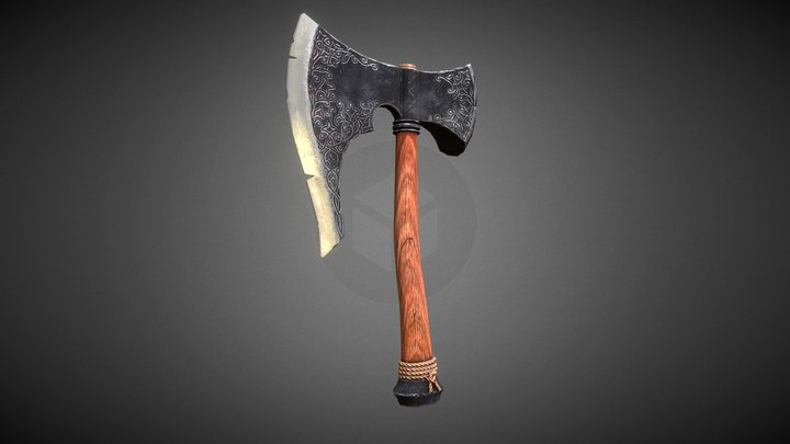 Fantasy war axe 3D Model