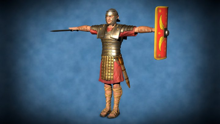 Roman Soldier - T pose - free download 3D Model
