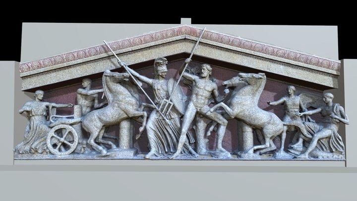 Nashville Parthenon West Pediment: JSW 3D Model