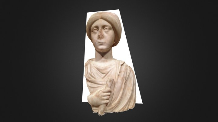 Byzantine Woman with Scroll (Cloisters 66.25) 3D Model