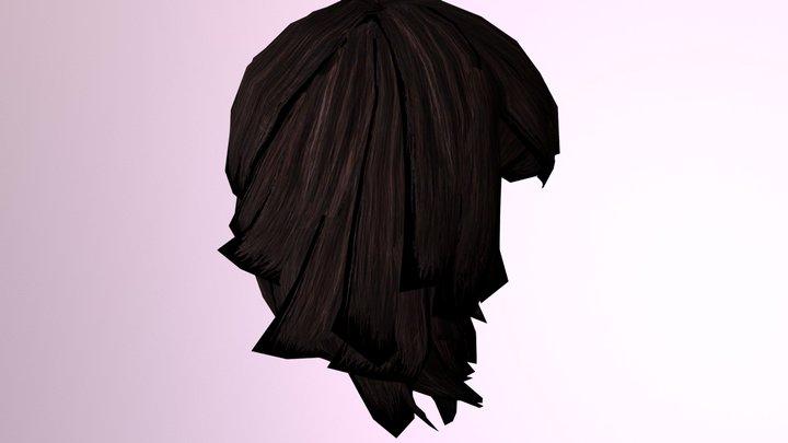 3d Female Hair 3D Model