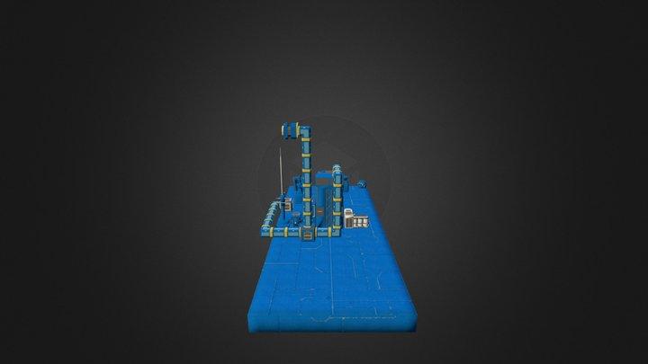 Platform 7203 Obj Files 3D Model