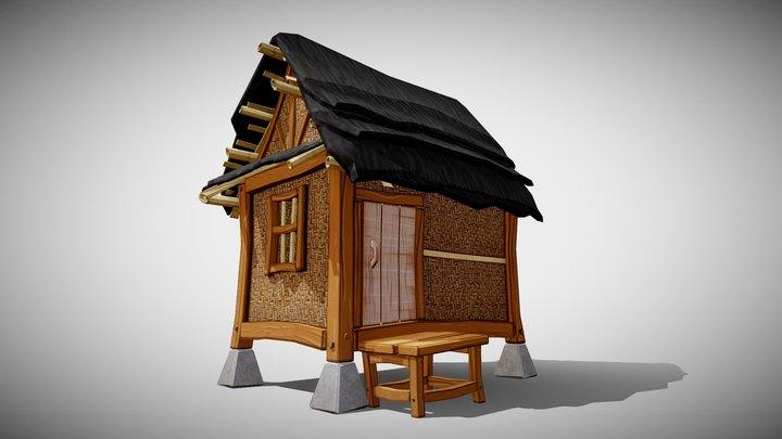Low Poly House 'Julang Ngapak' 3D Model