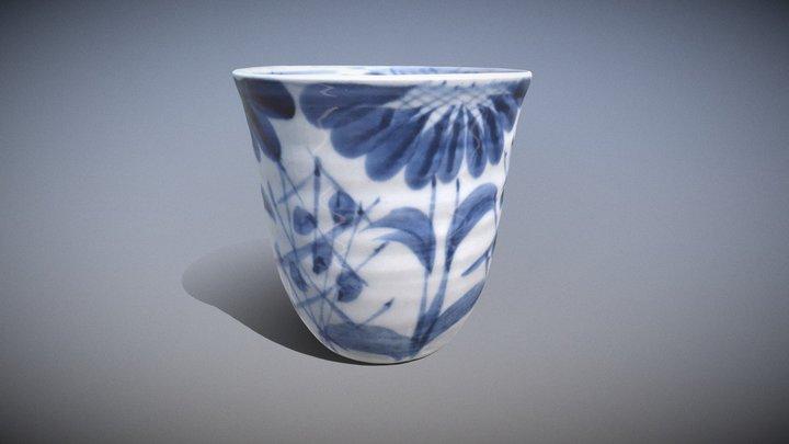菊唐草模様 (Chrysantemum Arabesque Pattern Goblet) 3D Model