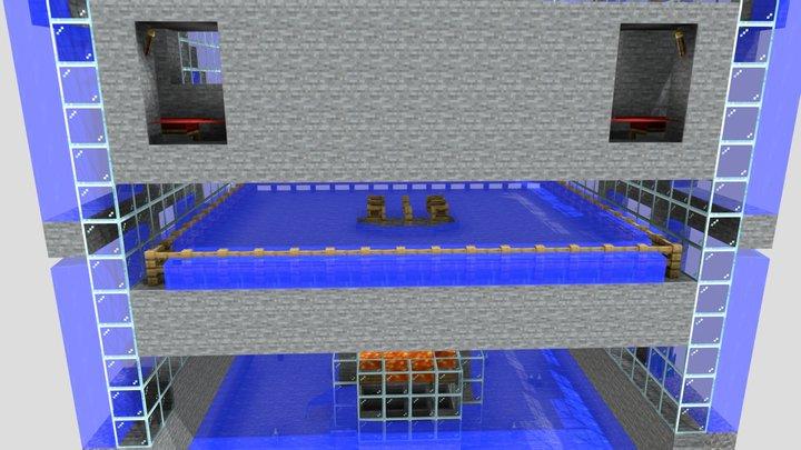 Fully Functional Iron Farm - MC Java 1.16.4 3D Model