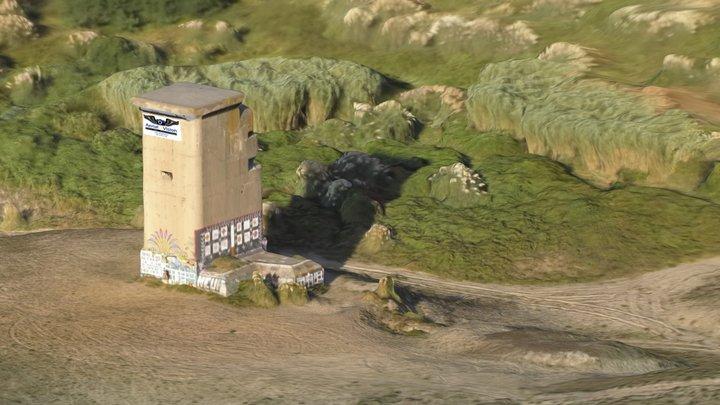 WWII Blockhaus par Aerial Vision 3D Model