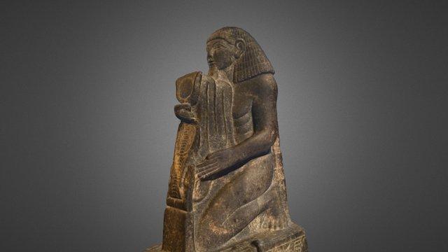 Kneeling statue of Senenmut 3D Model