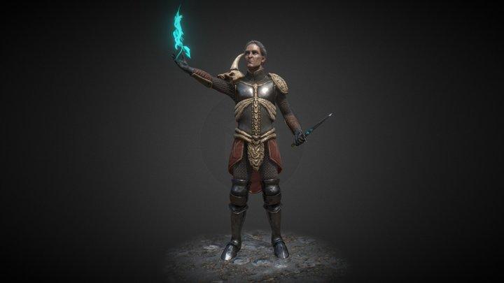 Necromancer - Game Res - Diablo 2 Fan Art 3D Model