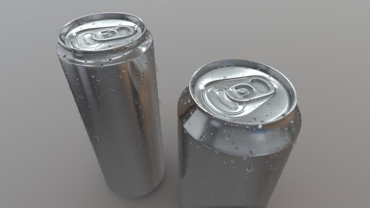 Cans with Droplets 3D Model