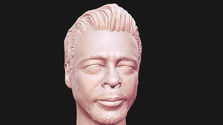 Benicio Del Toro 3Dprintable portrait 3D Model