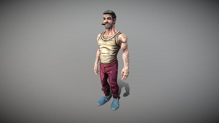 Smash Johnson Idle 3D Model