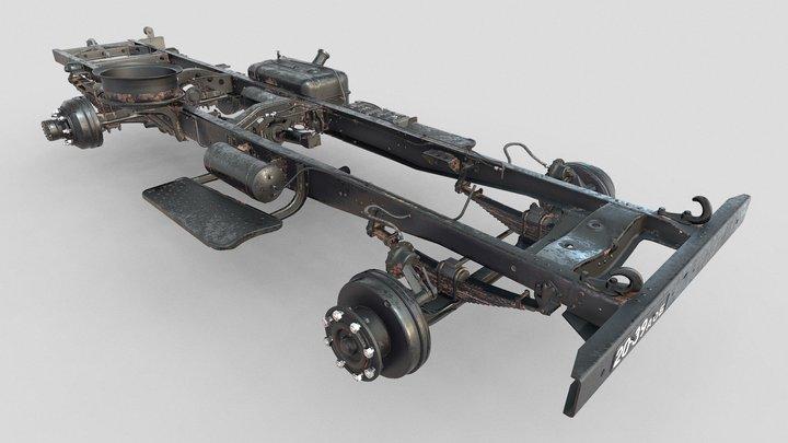 ZIS-150_1956_Frame. 3D Model