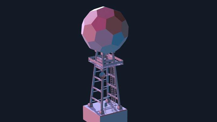Sci-Fi Tower 3D Model