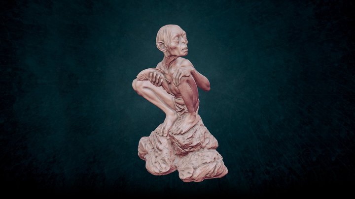 Gollum - The Lord of the rings 3D Model