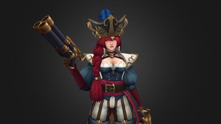 Captain Miss Fortune 3D Model
