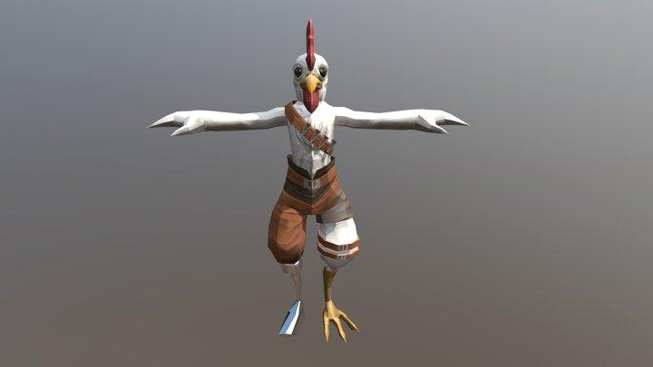 Chicken Dude 3D Model