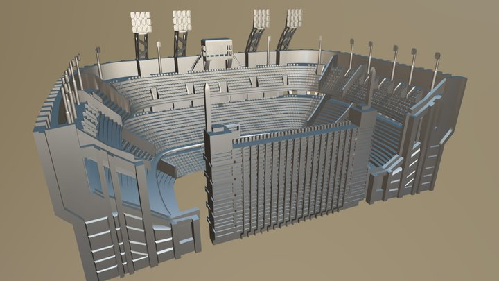 Estadio Boca Juniors 3D Model