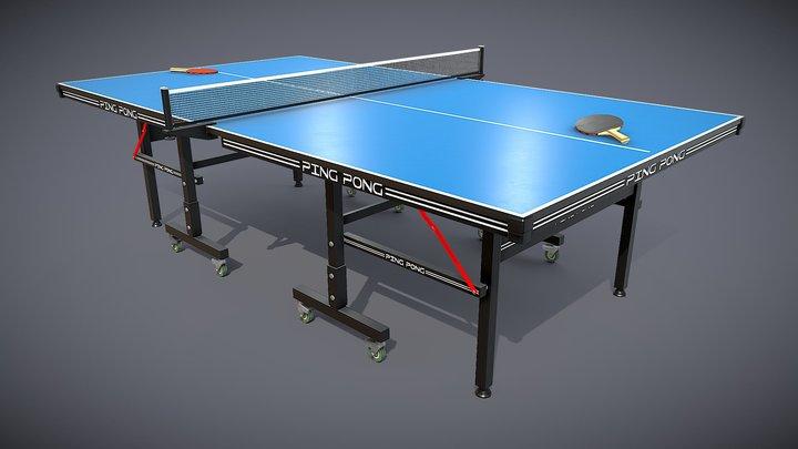 Ping Pong PBR 3D Model