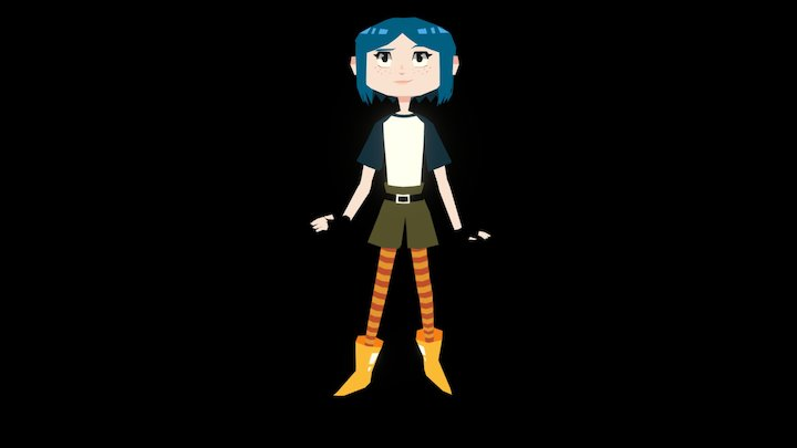 Colored Coraline/Mystery Kids 3D Model