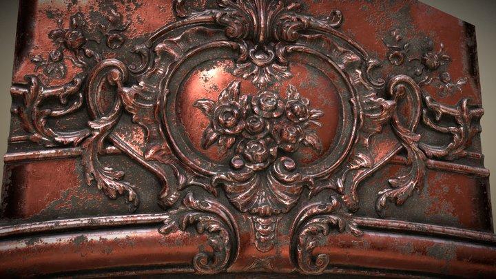 Baroque Cartouche 3D Model