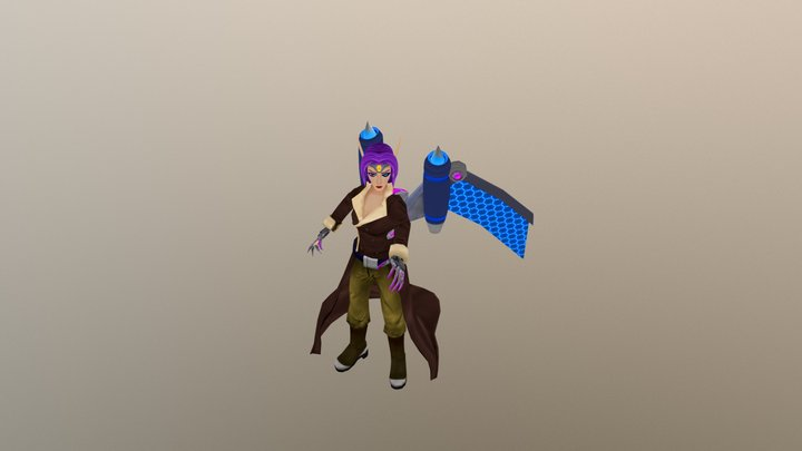 Rebel Fighter Morgana 3D Model
