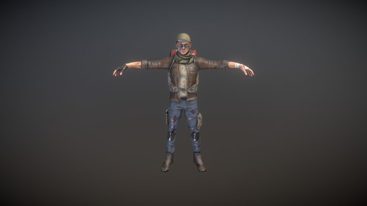 Rigged Male Survivor 3D Model