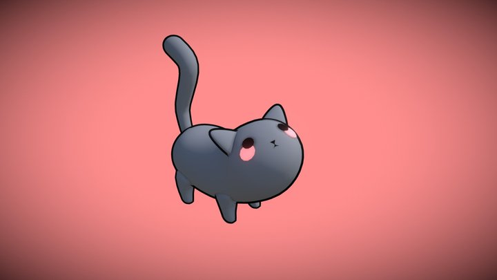 Snips - Smol Grey Cat 3D Model