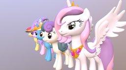 Pony friends 3D Model