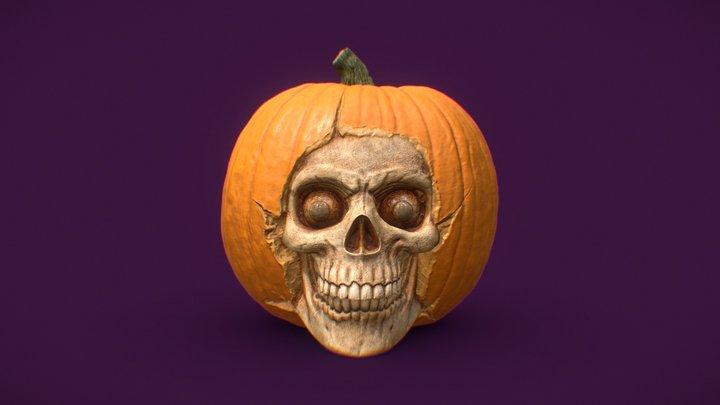 Pumpkin Skull 3D Model