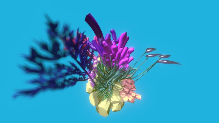 Coral Sample - Spatiate Painting by ContinuumVR 3D Model