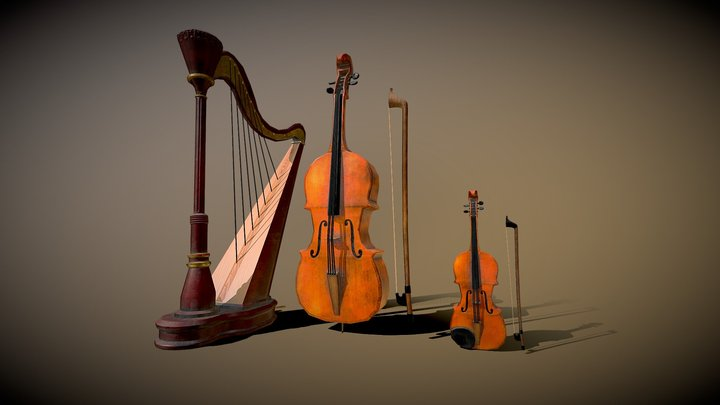 Victorian Instruments 3D Model