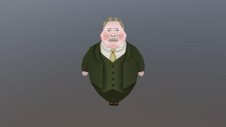 Withnail and I - Uncle Monty 3D Model