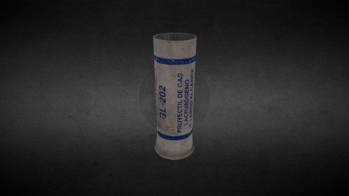 Cartucho lacrimógena GL-202 (largo alcance) 3D Model