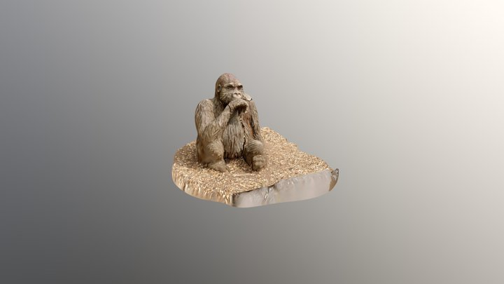 knebworth gorilla3 3D Model