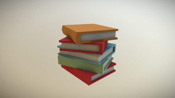 Book Pile - Household Props Challenge 3D Model