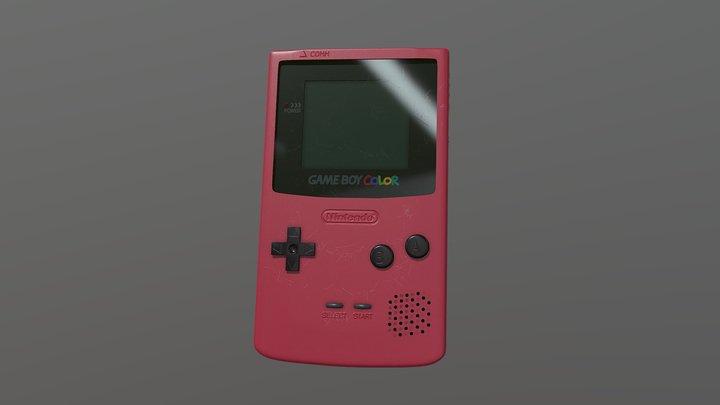 GameBoy Color Rose Red 3D Model