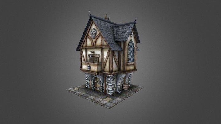 Medieval Merchant's House 3D Model