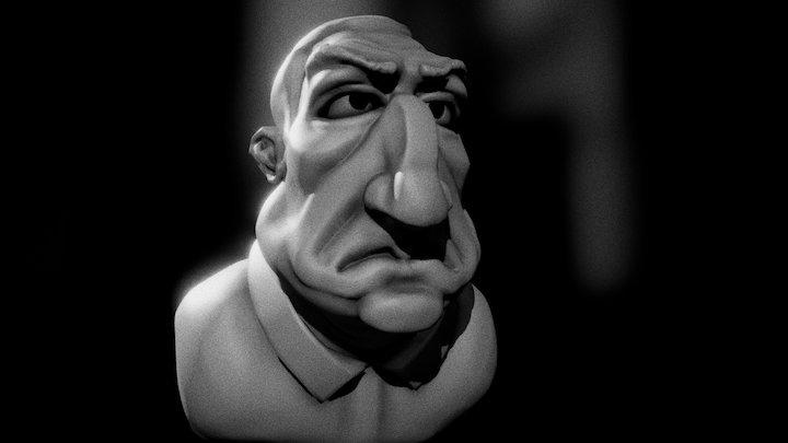 Lino Ventura 3D Model
